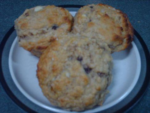 Banana and White Chocolate Muffins