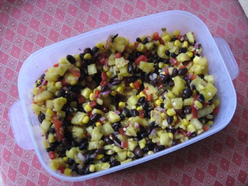 Pineapple, Black Bean & Corn Salsa