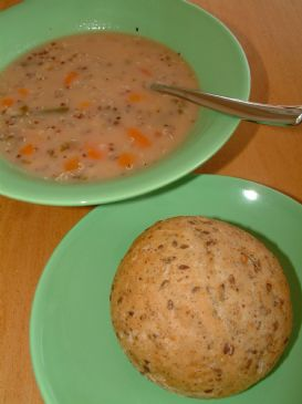 2 tin soup with Quinoa