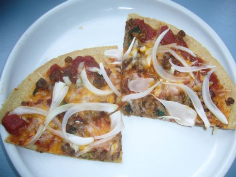 Amy O's Veggie Sausage-Onion Pizza