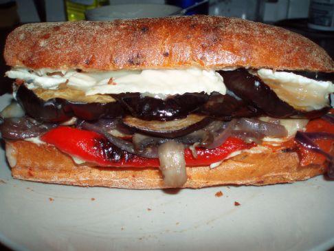 Roasted Mediterranean Vegetable Sandwich
