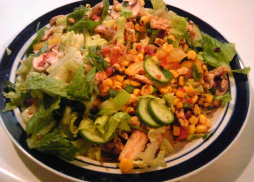 Roasted Corn and Tempeh Salad
