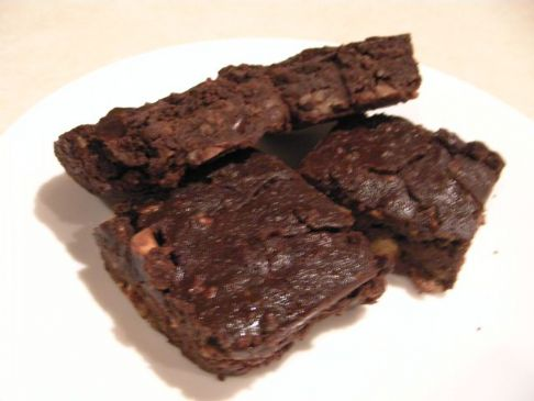 Carob Black Bean Brownies