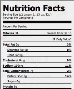 Joseph s flatbread nutrition facts nutrition ftempo for Wahoo s fish taco menu nutrition