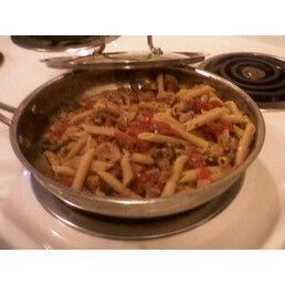 Easy Pasta and sauce w/ground turkey