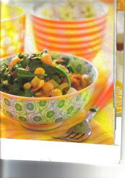 Chana Saag Chickpea Spinach Curry W/Chicken