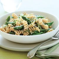WW Rotini with Basil and Snap Peas