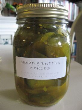 Carla's Homemade Bread & Butter Pickles