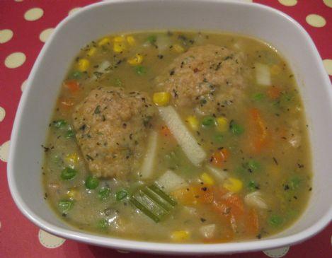 Vegetable Dumpling Stew, Vegan