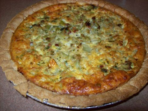 W2G Broccoli and Bacon Quiche