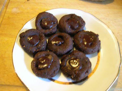 Dark Chocolate Button Cookies