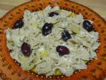 Multigrain Farfalle with Kalamata Olives in an Artichoke Marinade