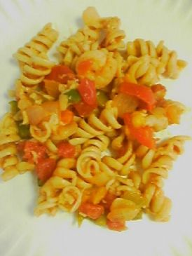 Easy Mexican Pasta with Shrimp