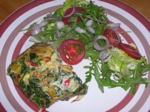 Baked Wilted Spinach Omlette