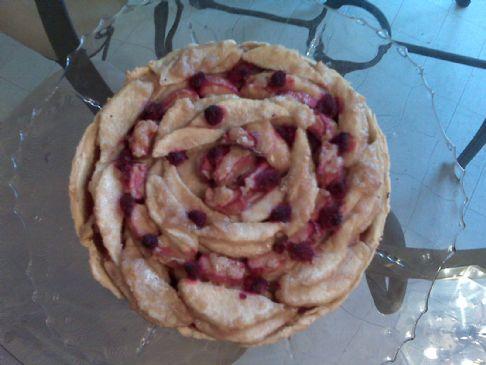 Pear, Rhubarb and Raspberry Tart