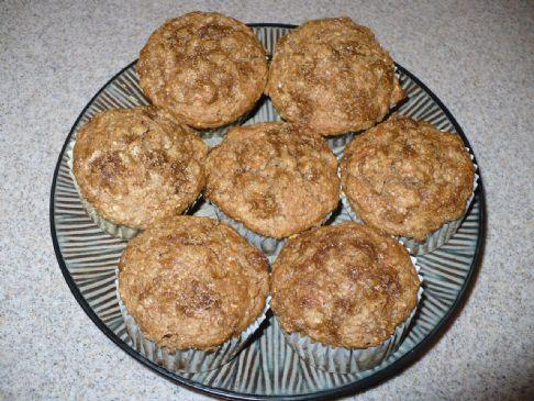 HealthierLynn's Whole Wheat Banana Muffins