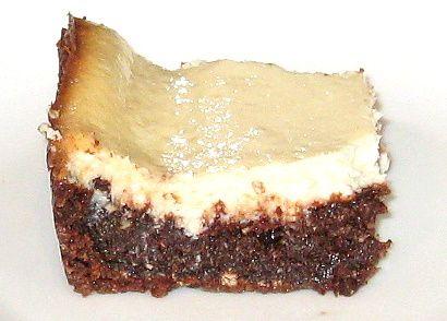Fudgy Mint Cheesecake Bars