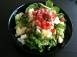Apple salsa and cheese salad
