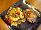 Squash,pepper, shroom, onion, tomato saute