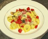 Red, White, and Green Tortelloni