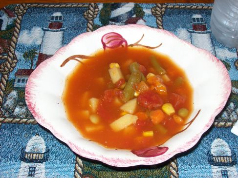 Old Fashioned Homemade Vegetable Soup Recipe Sparkrecipes