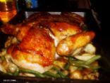 roasted lemon chicken with green beans and potatoes