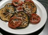 Roasted Eggplant and Tomatoes with Parmesan Cheese
