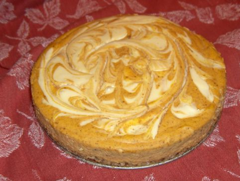 Sugar Free Pumpkin Swirl Cheesecake