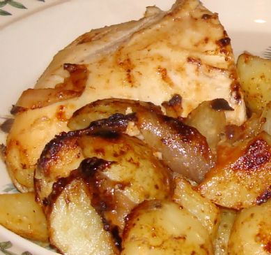 Lea & Perrins Chicken with Potato and Onion