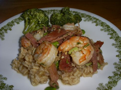 Shrimp and Fava Beans with Thyme