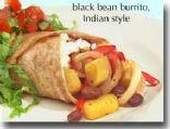 Indian Style Black Bean Burrito