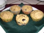 Whole Grain Blueberry Oatmeal Muffin