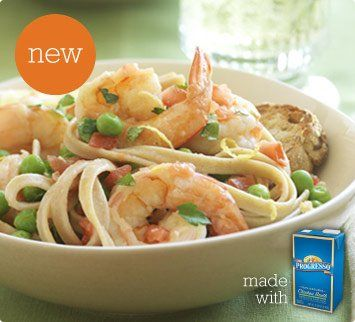 lemon shrimp and fettuccine