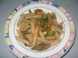 Beef pasta dish