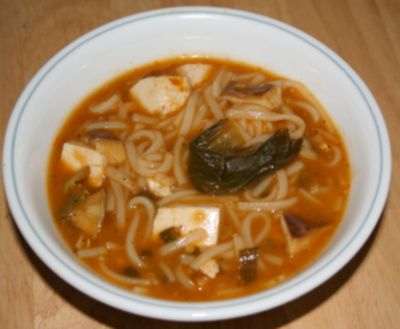 Vegetarian Hot and Sour Noodle Soup