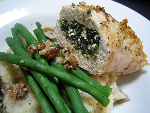 walnut crusted chicken stuffed w spinach and cottage cheese recipe rh recipes sparkpeople com chicken and cottage cheese casserole chicken and cottage cheese pasta