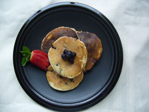 Mom's Whole Wheat Blueberry Pancakes