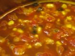 Easy Chickenless Chicken Tortilla Soup