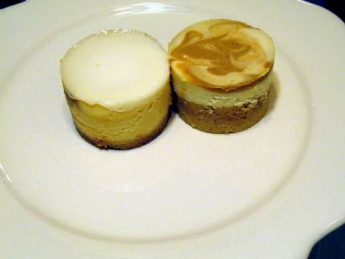 Marbled Pumpkin Honey Cheesecake Minis
