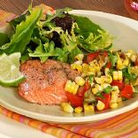Sauteed Salmon with Tomato Corn Relish
