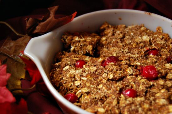 Cranberry-Orange Pumpkin Granola Cookie Bars