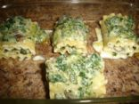Spinach Mushrooms Lasagna Rolls