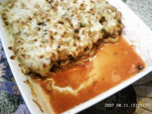 Speedy pasta casserole