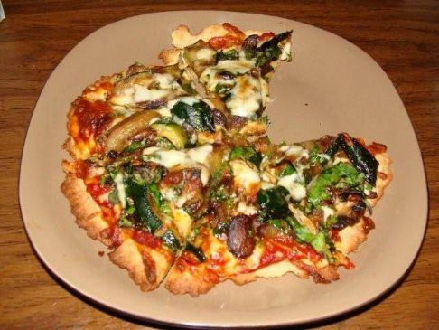 Gluten Free Vegetarian Individual Pizza