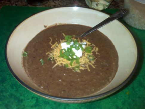 Spicy Black Bean soup