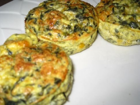 Crustless Spinach Mini Quiche Recipe