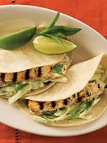 Mojito-Grilled Fish Tacos With Lime Slaw Topping