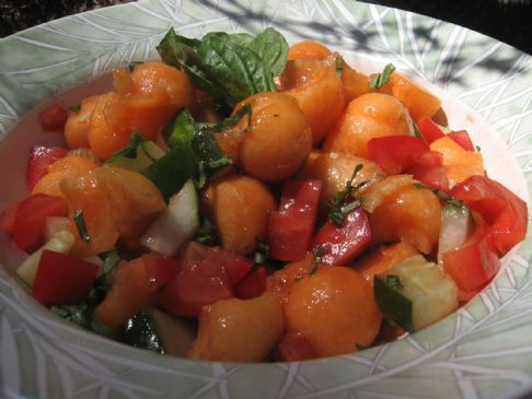 Basil-Balsamic Canteloupe Salad