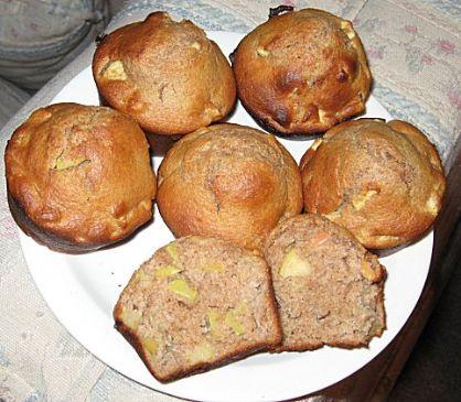 Whole wheat apple honey muffins