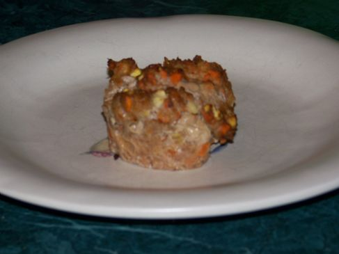 Turkey Meatloaf Muffins with veggies